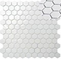 HEX NATUREGLASS WHITE - mozaika szklana
